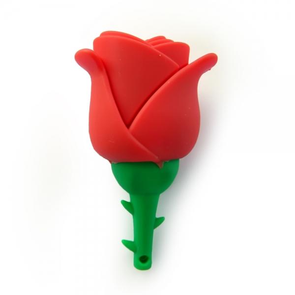 Фото - Флешка 8 Gb силиконовая Роза купить в киеве на подарок, цена, отзывы