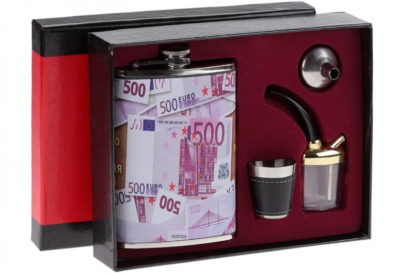 Фото - Фляга - подарочный набор денежная купить в киеве на подарок, цена, отзывы