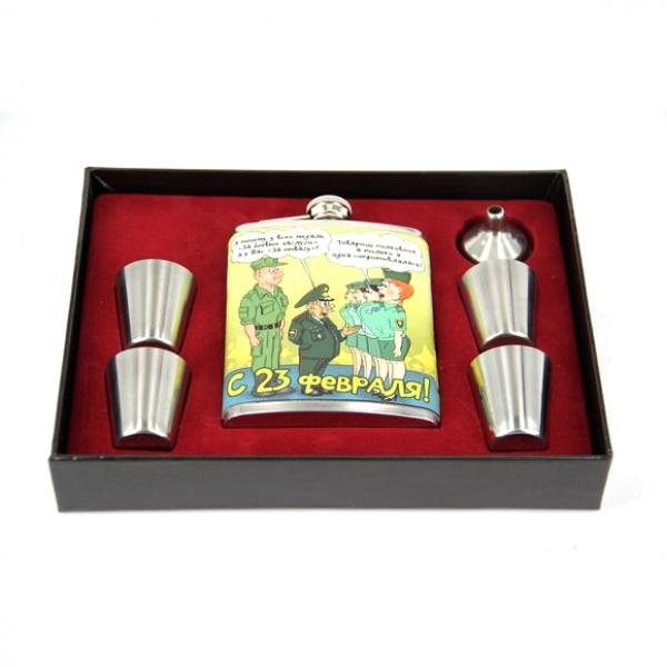 Фото - Подарочный набор Фляга с 23 февраля  купить в киеве на подарок, цена, отзывы