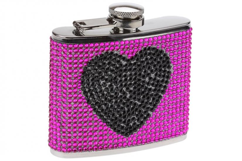 Фото - Фляга сердечко - гламур розовая купить в киеве на подарок, цена, отзывы