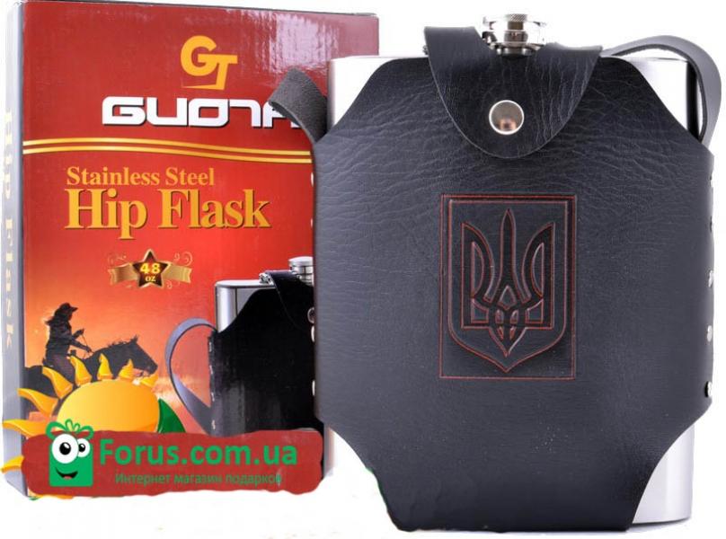 Фото - Фляга в чехле Украина 48 oz купить в киеве на подарок, цена, отзывы