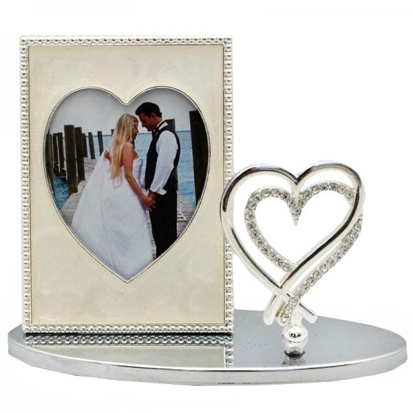 Фото - Фоторамка на подставке Сердце  купить в киеве на подарок, цена, отзывы