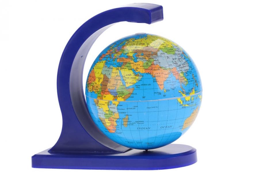 Фото - Глобус вращающийся дуга 10см купить в киеве на подарок, цена, отзывы