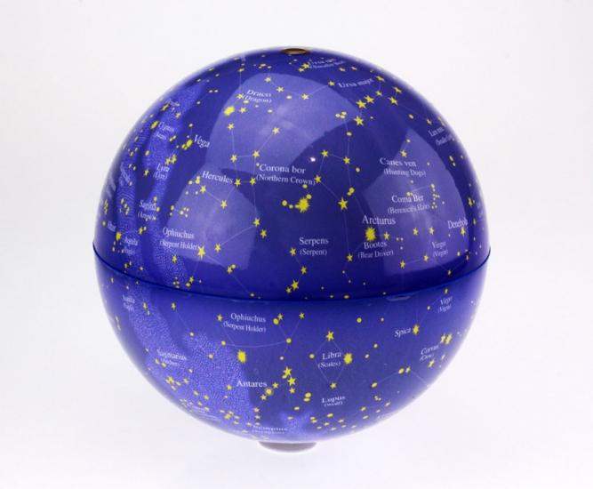 Фото - Глобус вращающийся свет звездное небо 20 см купить в киеве на подарок, цена, отзывы