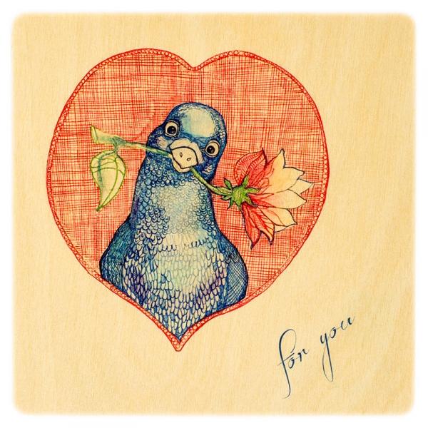 Фото - Деревянная открытка Голубь мира купить в киеве на подарок, цена, отзывы