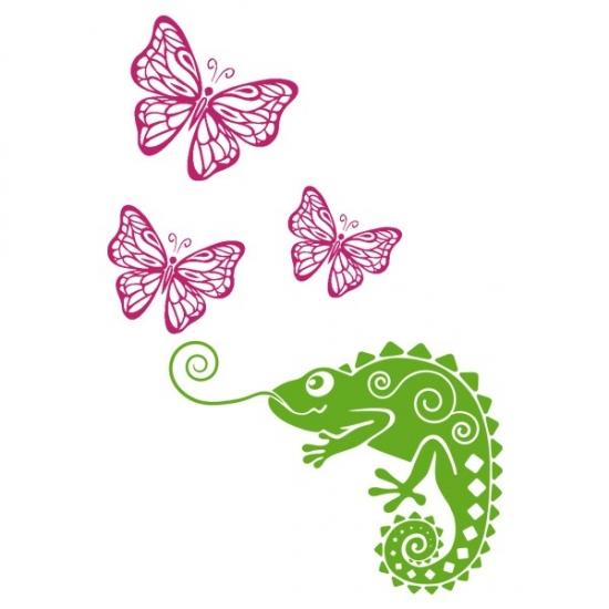 Фото - Интерьерная Наклейка Chameleon купить в киеве на подарок, цена, отзывы
