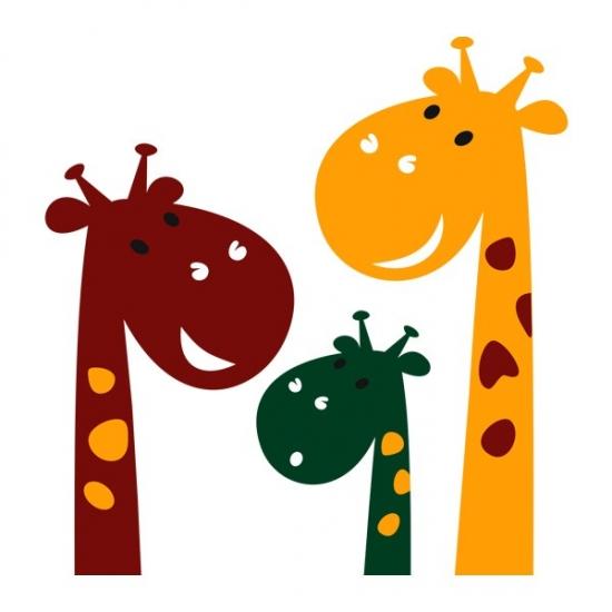 Фото - Интерьерная Наклейка Cute Giraffes купить в киеве на подарок, цена, отзывы