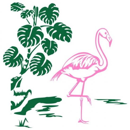 Фото - Интерьерная Наклейка Flamingo купить в киеве на подарок, цена, отзывы