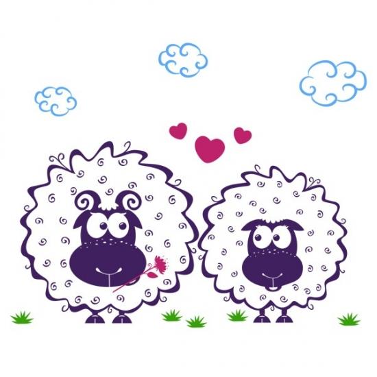 Фото - Интерьерная Наклейка Lamb купить в киеве на подарок, цена, отзывы