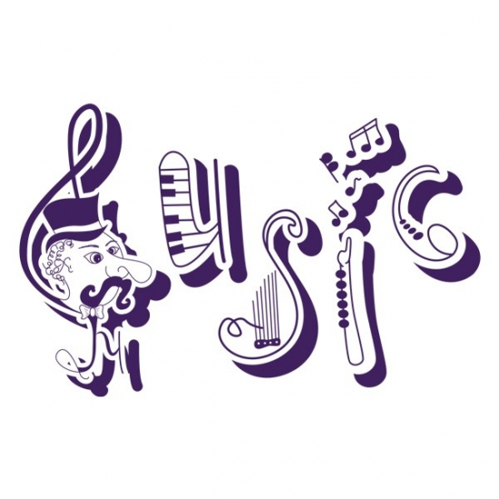 Фото - Интерьерная Наклейка Music купить в киеве на подарок, цена, отзывы