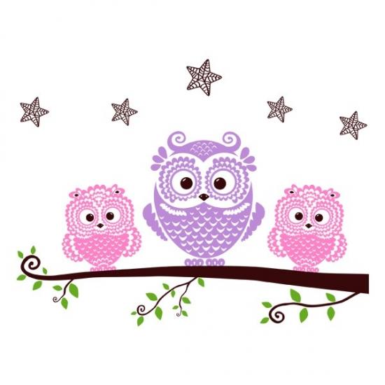 Фото - Интерьерная Наклейка Owls купить в киеве на подарок, цена, отзывы