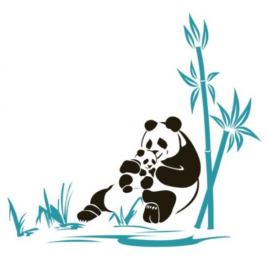 Фото - Интерьерная Наклейка Panda купить в киеве на подарок, цена, отзывы