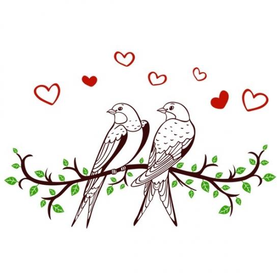 Фото - Интерьерная Наклейка Swallows купить в киеве на подарок, цена, отзывы