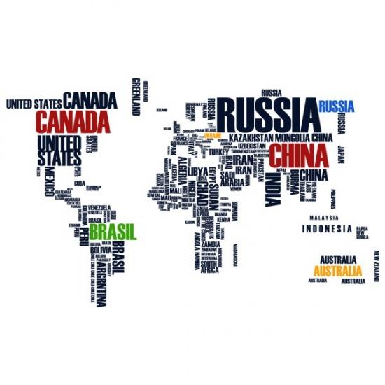 Фото - Интерьерная Наклейка World Map купить в киеве на подарок, цена, отзывы