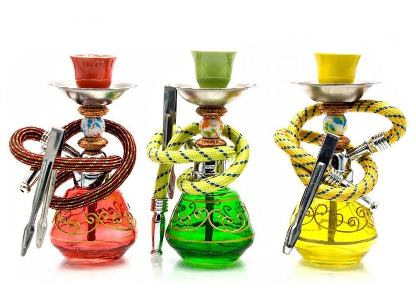 Фото - Кальян (на 1 персону)(18Х6,5Х6,5 см.) черный, зеленый, желтый купить в киеве на подарок, цена, отзывы
