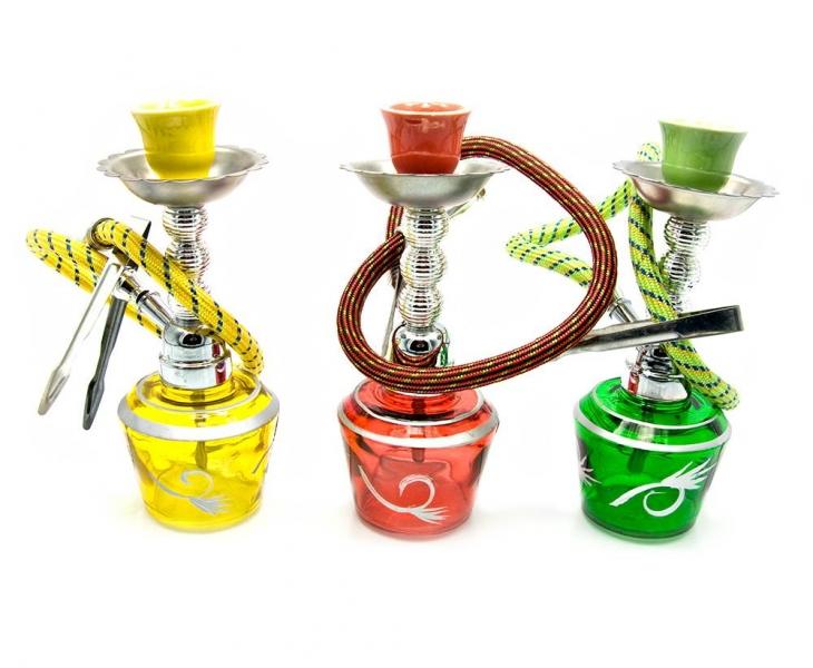 Фото - Кальян (на 1 персону)(18Х6,5Х6,5 см.) красный, зеленый, желтый купить в киеве на подарок, цена, отзывы