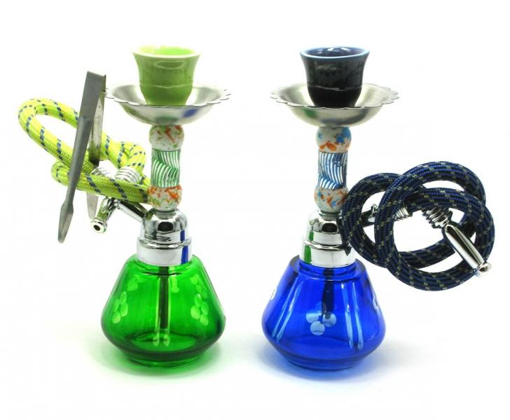Фото - Кальян (на 1 персону)(18Х6,5Х6,5 см.) зеленый, синий купить в киеве на подарок, цена, отзывы
