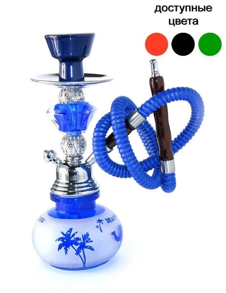 Фото - Кальян (на 1 персону)(27,5 см.) синий с белым в пальмы купить в киеве на подарок, цена, отзывы