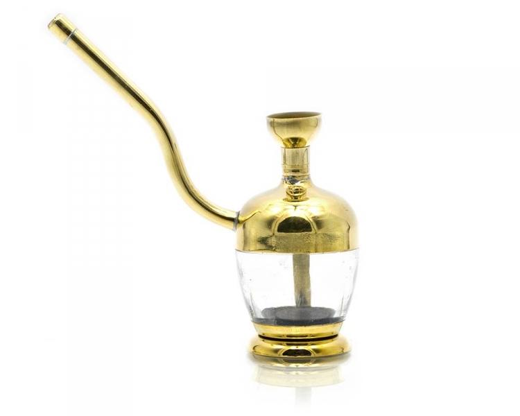 Фото - Кальян мини  (водяной фильтр для сигарет)11,5Х11Х3,8 см бронза, скло купить в киеве на подарок, цена, отзывы