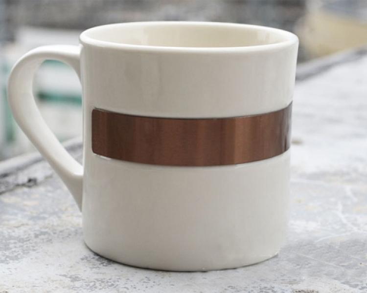 Фото - Керамическая чашка STARBUCKS с металлическим декором купить в киеве на подарок, цена, отзывы