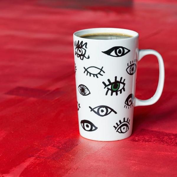 Фото - Керамическая чашка Starbucks Глаза купить в киеве на подарок, цена, отзывы