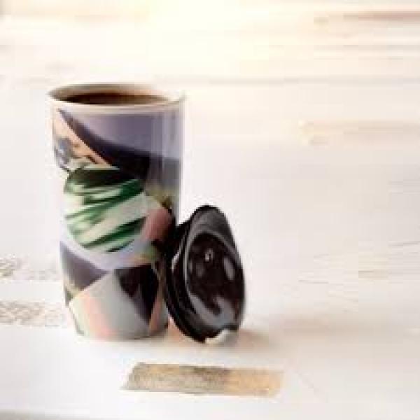 Фото - Керамическая термочашка Starbucks  Мрамор купить в киеве на подарок, цена, отзывы