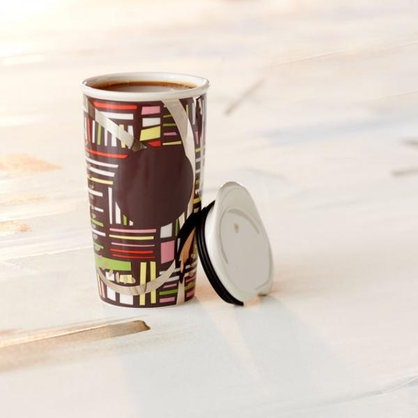 Фото - Керамическая термочашка Starbucks  Орнамент купить в киеве на подарок, цена, отзывы