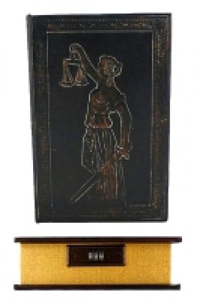 Фото - Книга сейф Фемида с кодовоым замком Кожа купить в киеве на подарок, цена, отзывы