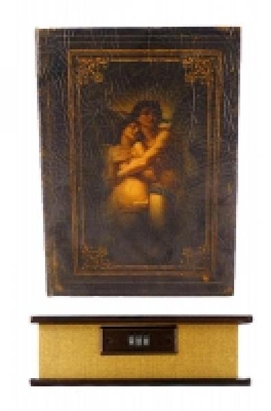Фото - Книга сейф Влюбленные с кодовоым замком Кожа 34 см купить в киеве на подарок, цена, отзывы
