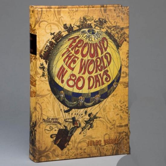 Фото - Книга сейф вокруг света за 80 дней 26 см купить в киеве на подарок, цена, отзывы