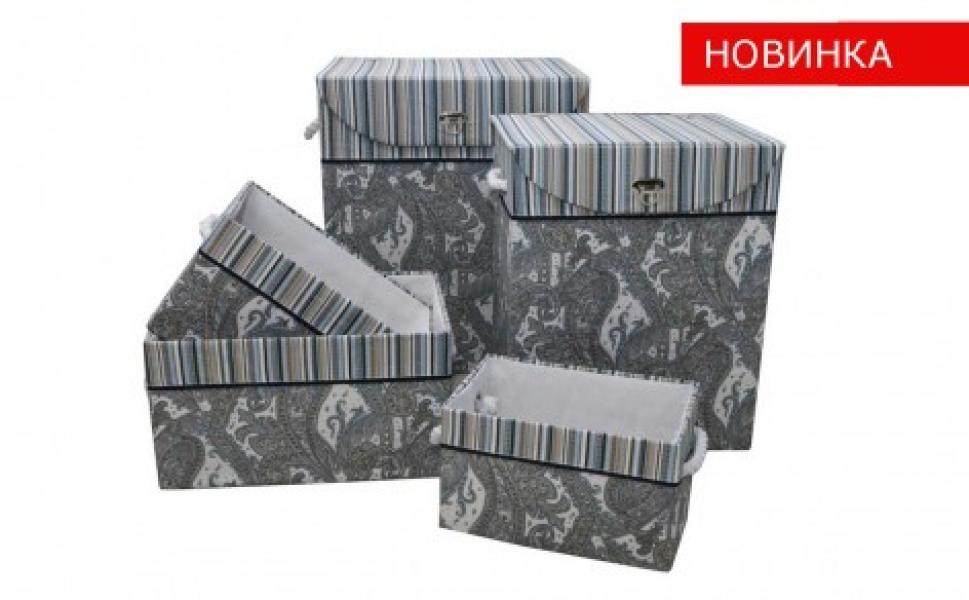 Фото - Корзина бельевая Орнамент TB27B-M купить в киеве на подарок, цена, отзывы