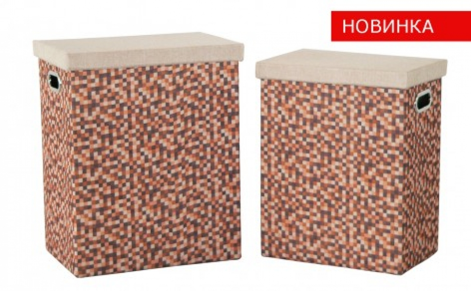 Фото - Корзина бельевая Рыжие клеточки FBA03-L купить в киеве на подарок, цена, отзывы