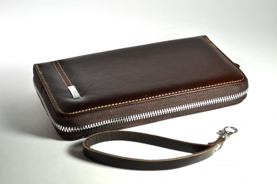 Фото - Кошелек клатч коричневый купить в киеве на подарок, цена, отзывы