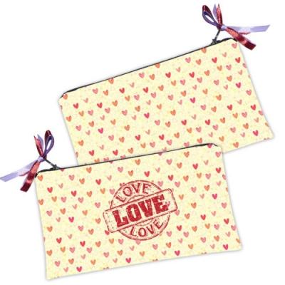 Фото - Косметичка - кошелек Сердечки купить в киеве на подарок, цена, отзывы