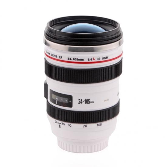 Фото - Кружка термос-объектив CANON 24-105 (WHITE) купить в киеве на подарок, цена, отзывы