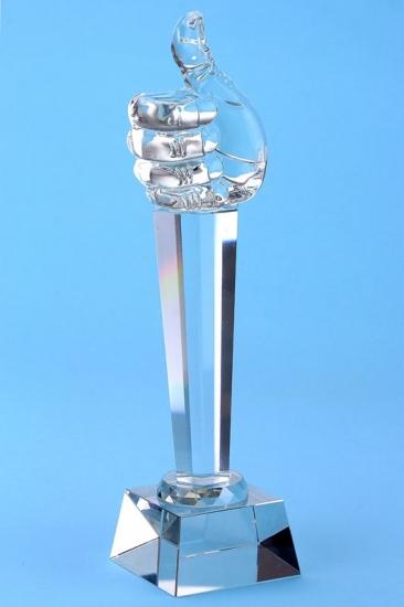Фото - Кубок хрустальный рука купить в киеве на подарок, цена, отзывы