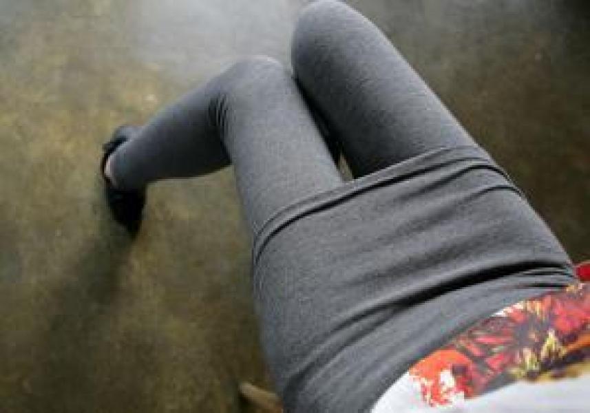 Фото - Леггинсы с юбкой  серые купить в киеве на подарок, цена, отзывы