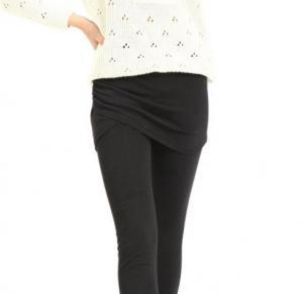 Фото - Леггинсы с юбкой на запах черные купить в киеве на подарок, цена, отзывы