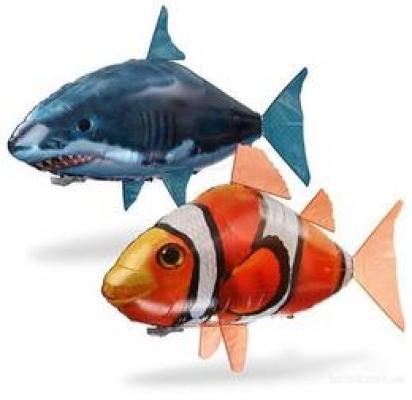 Фото - Летающие рыбки Air Swimmers  на управлении (акула; клоун) купить в киеве на подарок, цена, отзывы