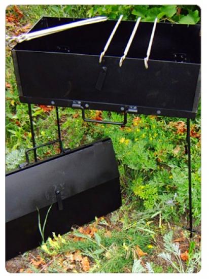 Фото - Мангал Дипломат на 10 шампуров 2мм сталь купить в киеве на подарок, цена, отзывы