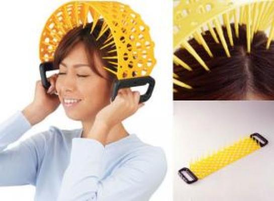 Фото - Массажёр для головы, игольчатый ДИКОБРАЗ купить в киеве на подарок, цена, отзывы