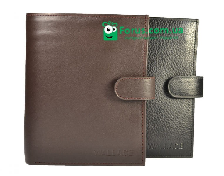 Фото - Мужской кошелек кожа wallace 7306 купить в киеве на подарок, цена, отзывы