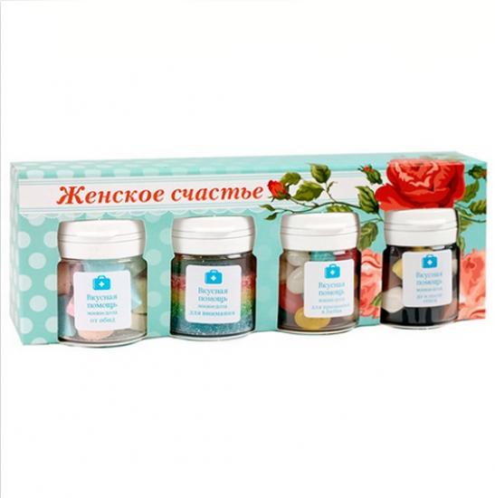 Фото - Набор Женское счастье из 4-х мини-доз  купить в киеве на подарок, цена, отзывы