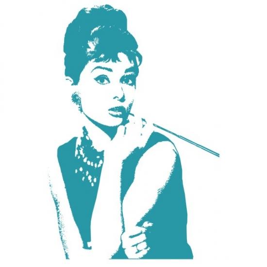Фото - Наклейка Декоративная Audrey Hepburn купить в киеве на подарок, цена, отзывы
