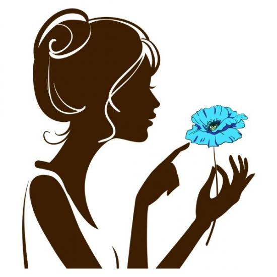 Фото - Наклейка Декоративная Girl with Flower купить в киеве на подарок, цена, отзывы
