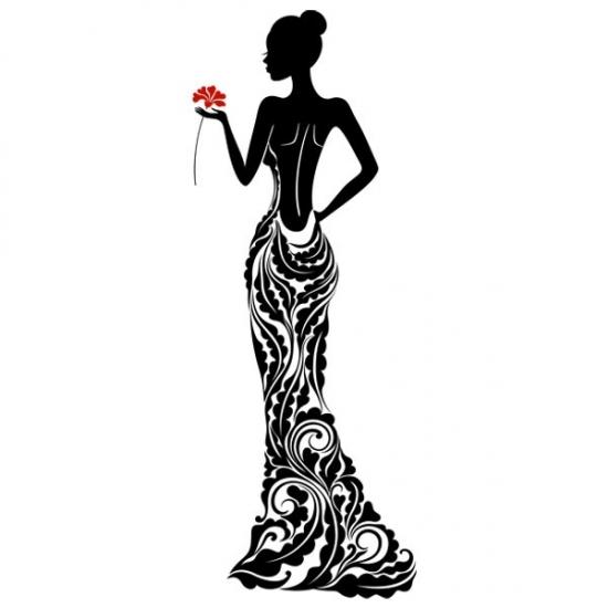 Фото - Наклейка Декоративная Lady купить в киеве на подарок, цена, отзывы