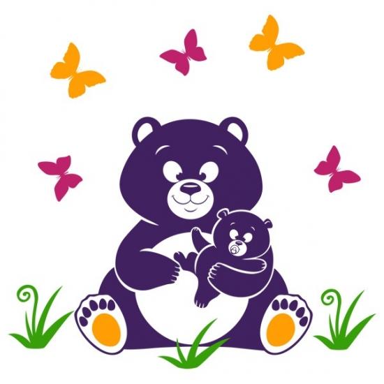 Фото - Наклейка Детская Bear купить в киеве на подарок, цена, отзывы