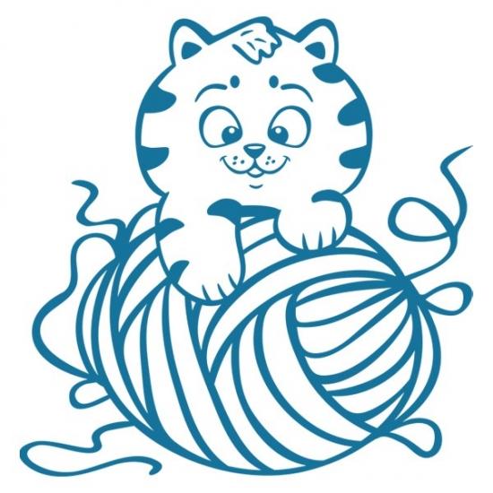 Фото - Наклейка Детская Kitten купить в киеве на подарок, цена, отзывы