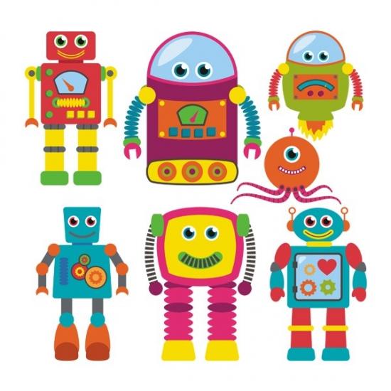 Фото - Наклейка Детская Robots купить в киеве на подарок, цена, отзывы