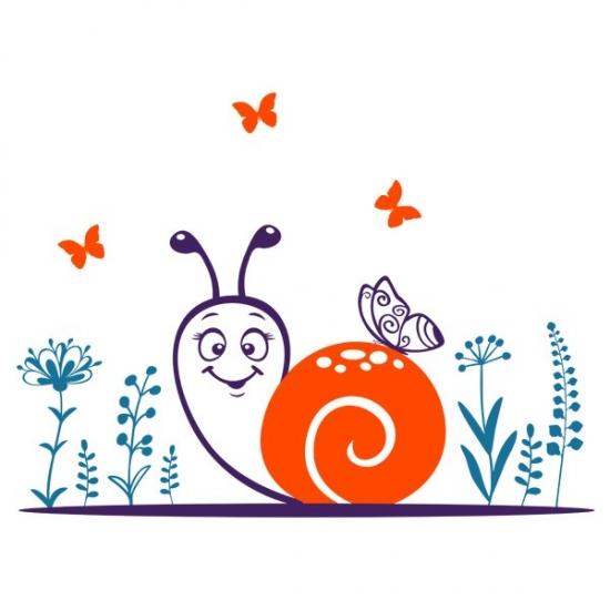 Фото - Наклейка Детская Snail купить в киеве на подарок, цена, отзывы